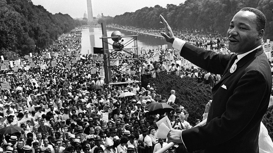Immagine storica del discorso tenuto il 28 agosto 1963 da Martin Luther King a Washington