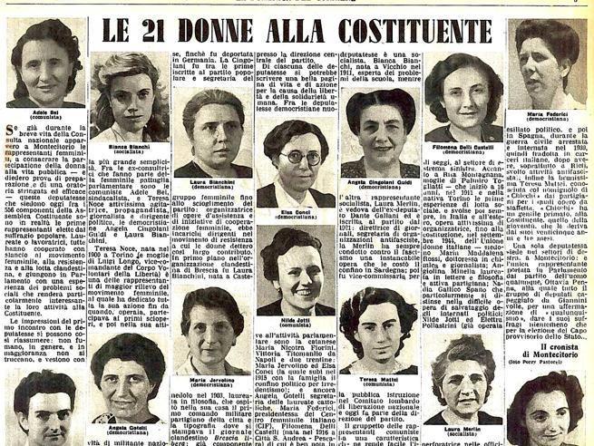 Le 21 donne alla Costituente
