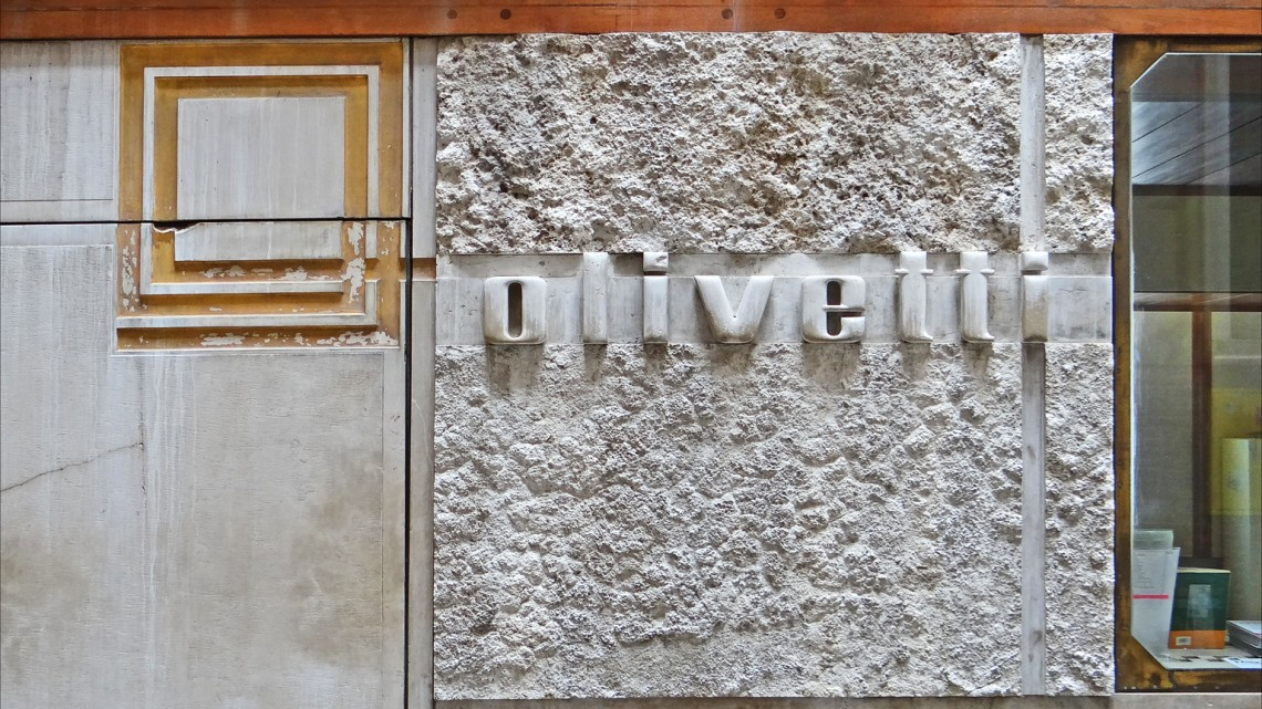 Foto da Flicr.com, Le magasin Olivetti de Carlo Scarpa (Venise) di Jean-Pierre Dalbéra, Licenza Creative Commons (CC BY 2.0)