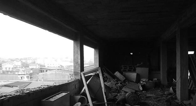 Palazzo confiscato a Polistena (RC) prima dei lavori di ristrutturazione dopo le devastazioni