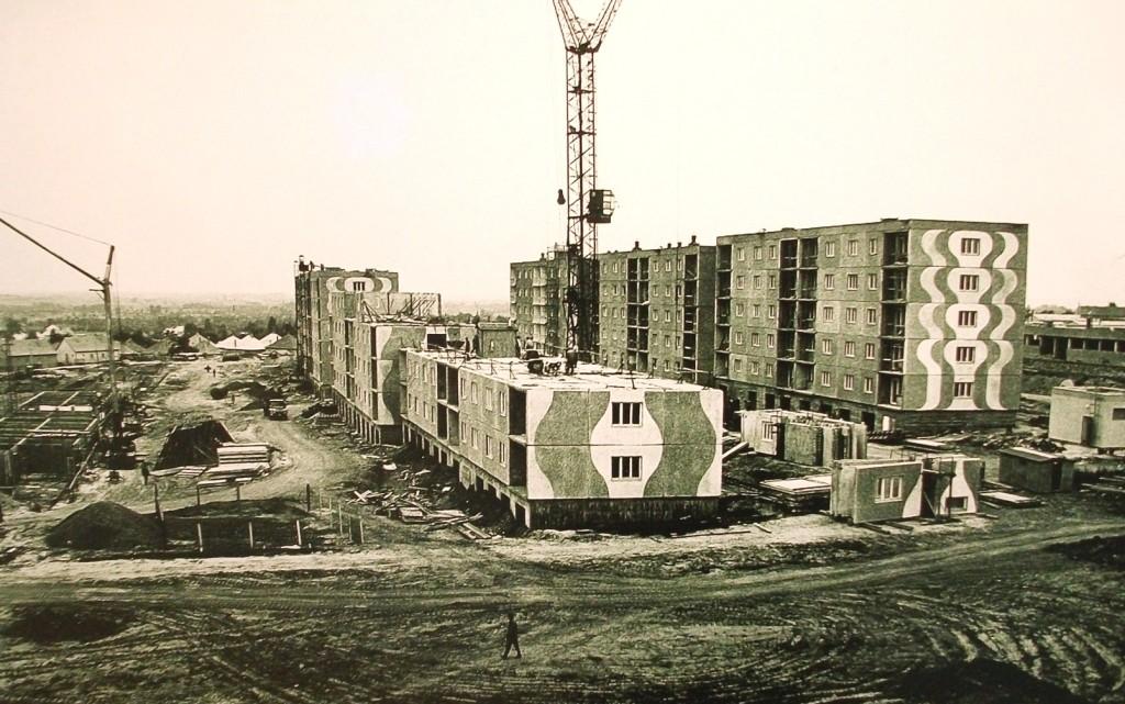 "Paks-Újváros (""Paks-New City"") under construction in the 1970s, Da Wikipedia, CC BY-SA 4.0"