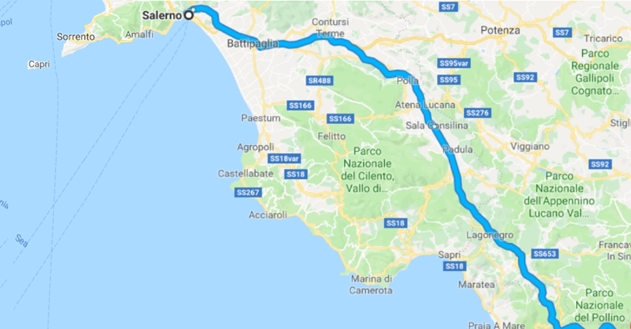 Salerno Reggio Calabria Ciclabile