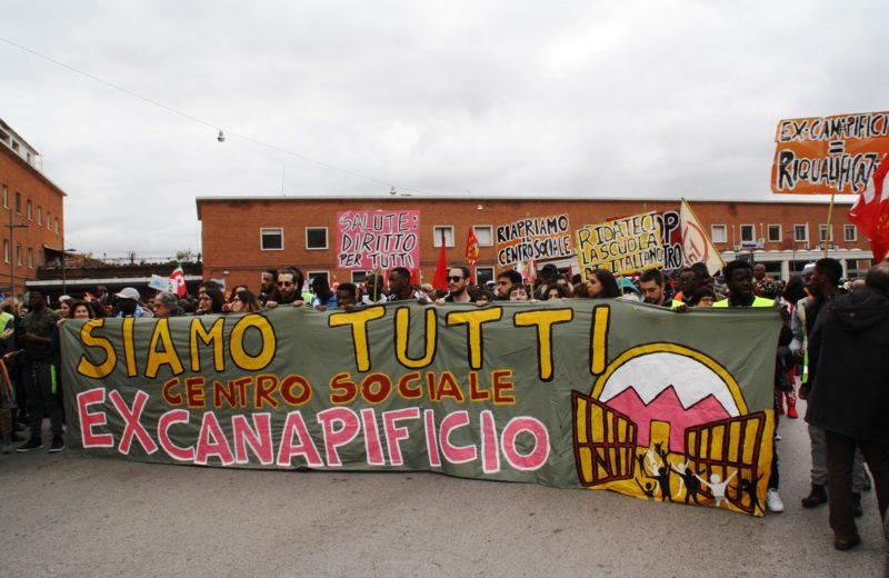 Foto tratta dalla pagina Facebook Csa Ex Canapificio Caserta