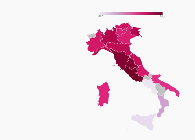 Non sono disponibili i dati per Valle d'aosta, Molise e Basilicata. elaborazione openpolis - Con i bambini su dati Istat per Gruppo Crc (ultimo aggiornamento: mercoledì 4 Dicembre 2019)
